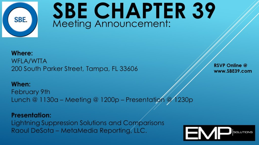 SBE Chapter 39 Meeting Announcement February 2017