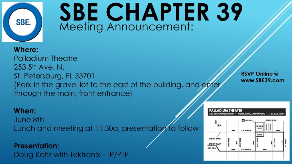 SBE Chapter 39 Meeting Announcement June 2017